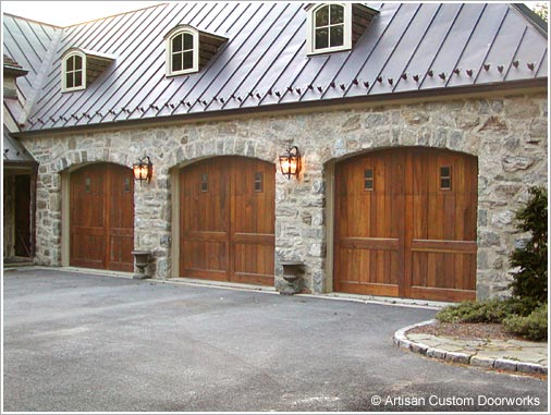 The window pattern and random width face boards on these Artisan doors harmonize with the surrounding design elements & CT ADS ONLINE - Door Solutions . Garage Doors . Carriage Doors ...