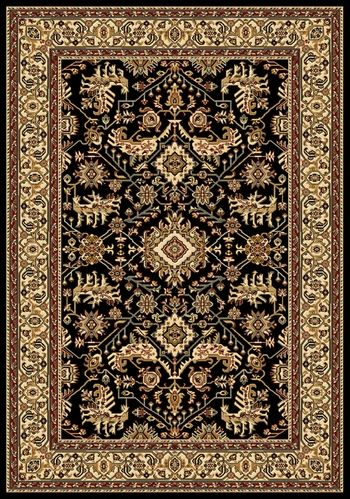 Black Persian Rug Home Decor