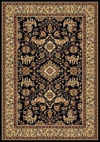 Black Persian Rug Home Decor